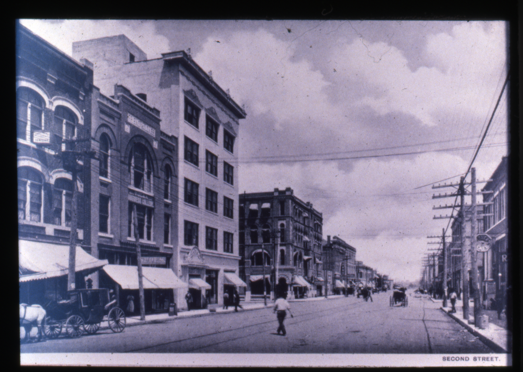 2nd Street, Looking East from Boulder, Undated