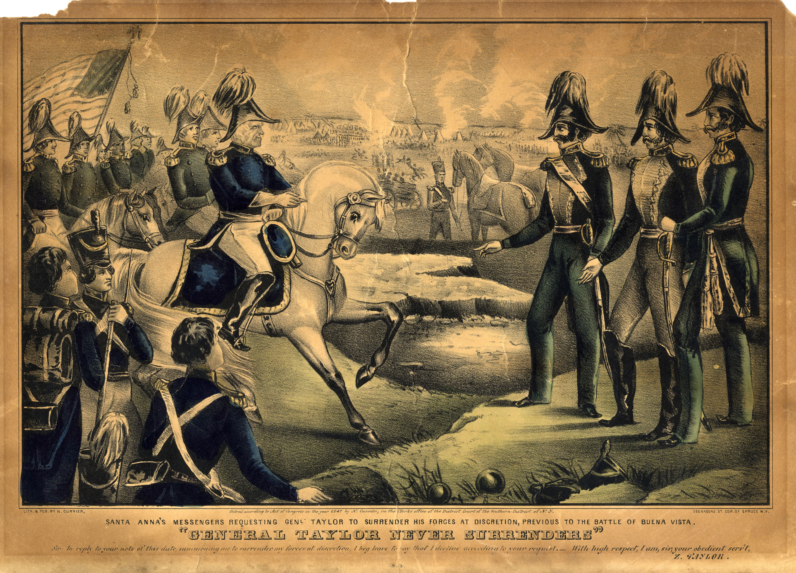 General Taylor Never Surrenders, 1847