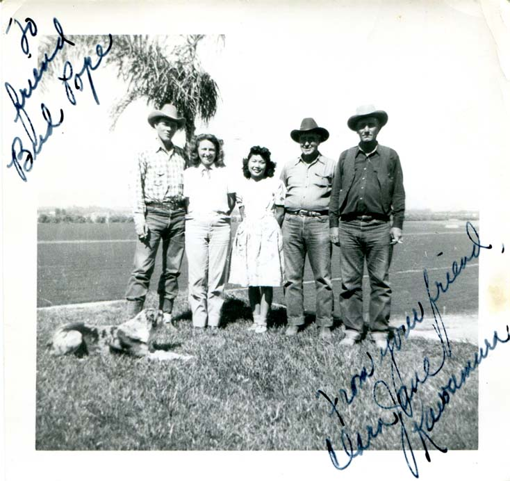 Ben Johnson and wife with friends, Undated